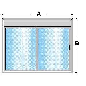 Ventana de aluminio corredera 1 x 1,45 con registro