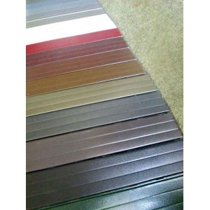 Persianas de aluminio diferentes colores