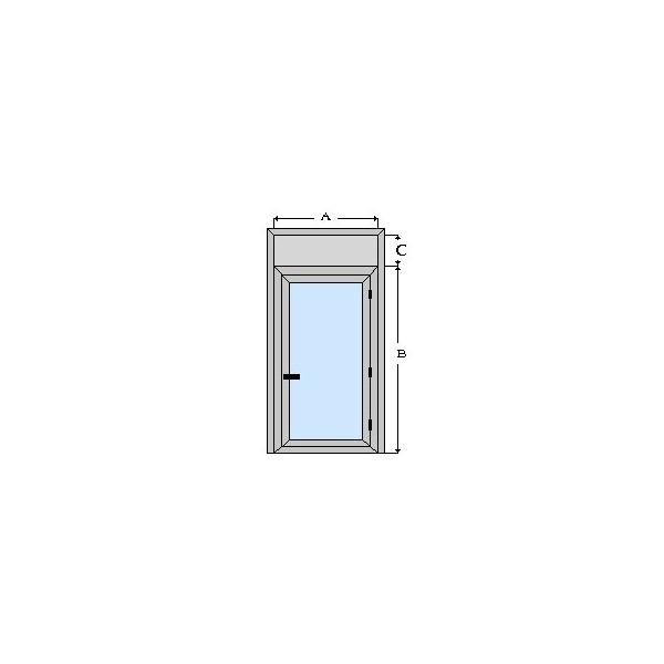 Puerta de aluminio y vidrio de camara con registro - Puertas en aluminio y vidrio ...