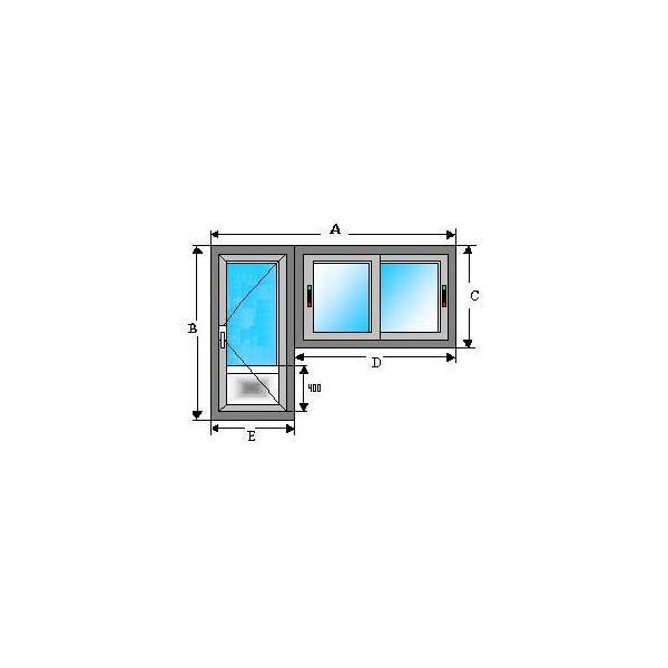 ventana corredera y puerta en aluminio sin registro ni