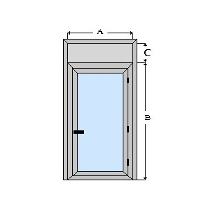 puerta de aluminio y vidrio de camara