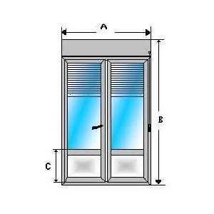 balconera aluminio y persiana