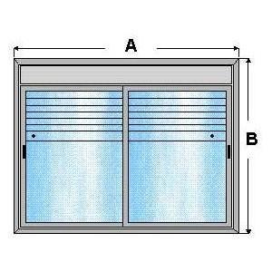 Ventana de aluminio corredera 1 x 1,45 con registro y persiana