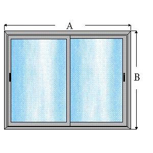 Ventana de aluminio corredera 1 x 1 sin persiana